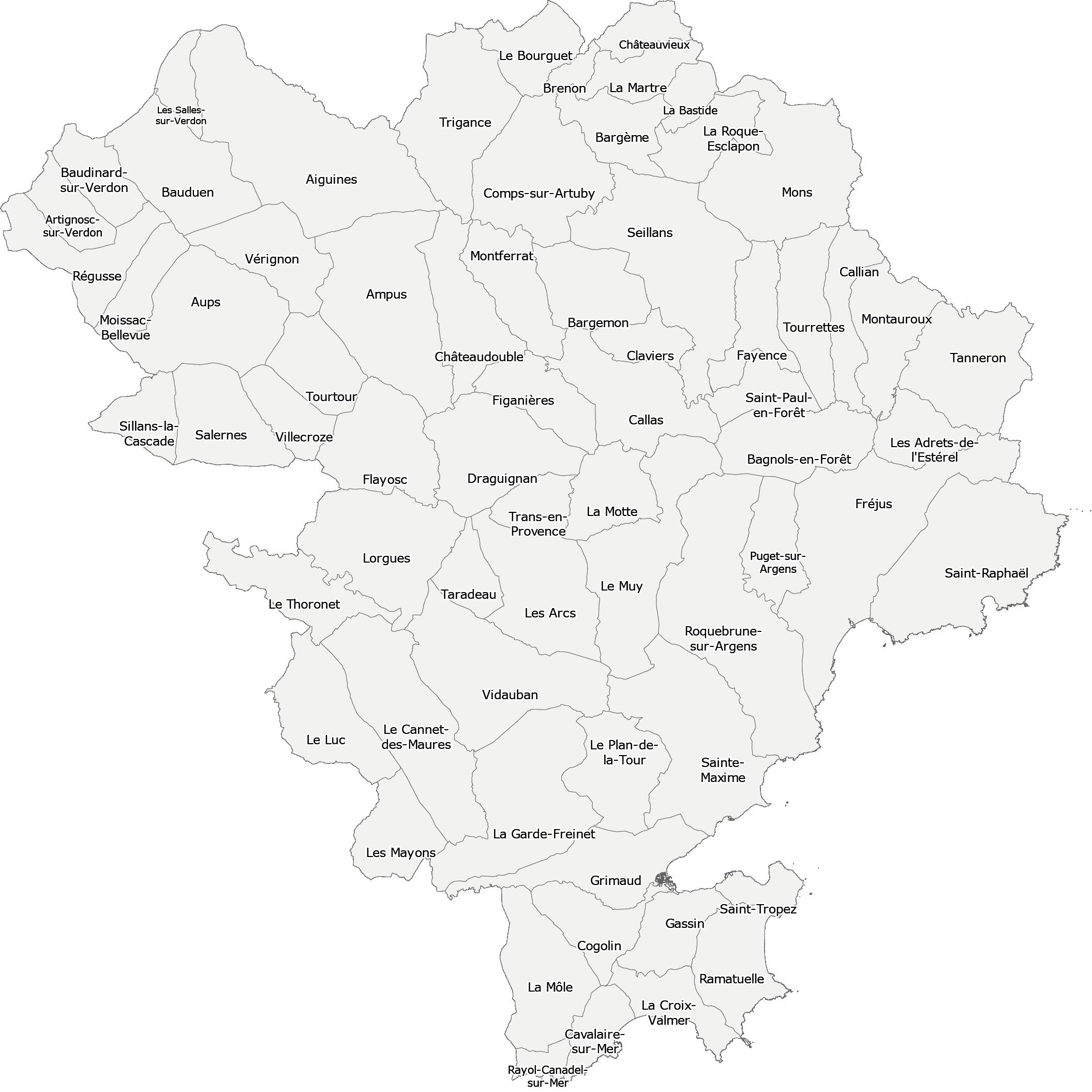 Carte territoire Var Est