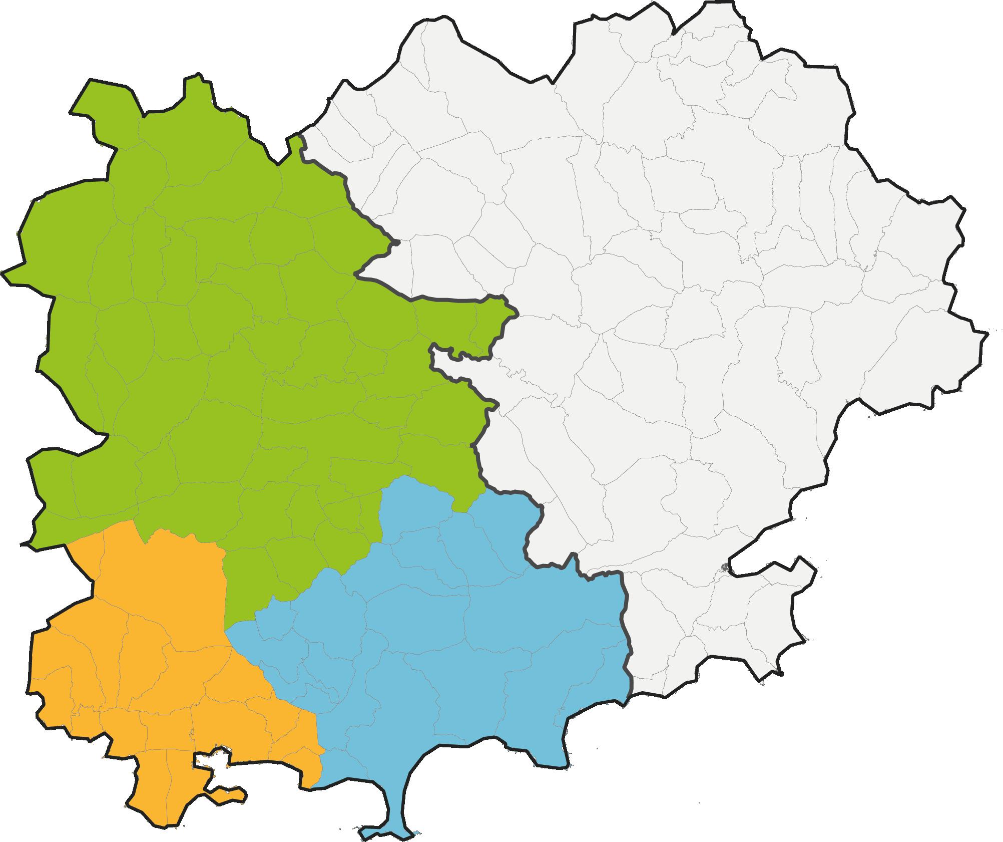carte territoire Var Ouest
