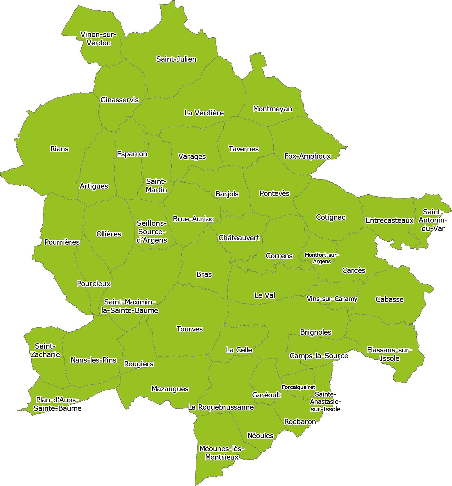 Carte territoire entre Plan d\'Aups, Vinon-sur-Verdon et Saint-Antonin