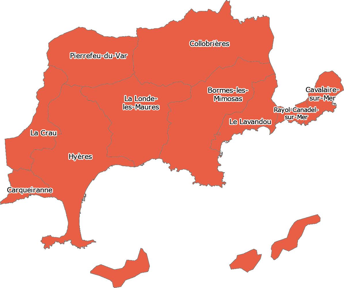 Zone couverte par Hadage